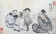 The Daoist Immortal Ge, seated to the right, was Ge Xuan, a Daoist master of the third century. Born into an eminent family, Ge Xuan was by nature reclusive and drawn to the occult arts of Daoism.<br/><br/>  He perfected the manufacture of the elixir of immortality as well as all manner of cultivation techniques – such as breathing fire (pictured here) and also turning food he had eaten into bees that flew out of his mouth. He eventually became an immortal and disappeared.